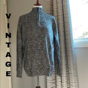 Bleu Ice quarter zip sweater